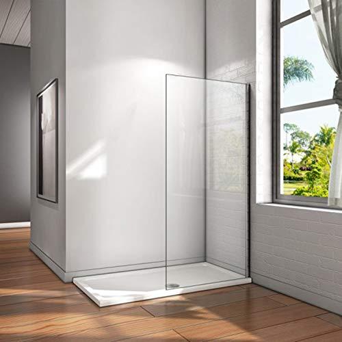 Mampara walk-in, Mampara de ducha fija de 70x200cm,Vidrio templado de...