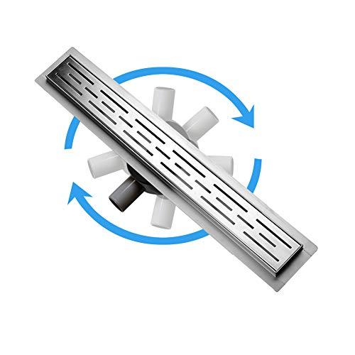 S SIENOC Desagüe de ducha de acero inoxidable extremadamente plano-...