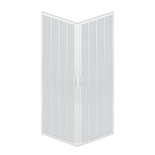 Rollplast BLUN2CONCC28080080 - Mampara para ducha,PVC, 80x 80x...