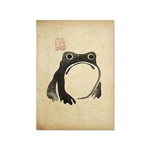 WQHLSH Antiguo Vintage Matsumoto Hoji Frog Cartel de Lona Japonesa de...