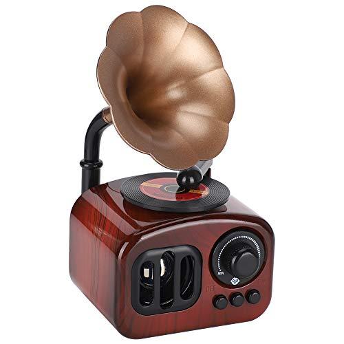 Fydun Caja de música con Forma de fonógrafo, Caja de música mecánica Retro para decoración de Escritorio, Regalo Musical Delicado