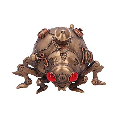 Nemesis Now Steampunk - Figura Decorativa de Mariquita de Vapor modificada, polirresina, Bronce, 20 cm