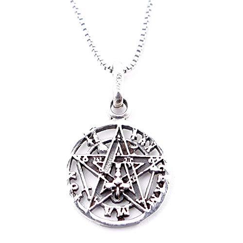 ARITZI - Collar Delicado de Plata de Ley 925 con medallón de...