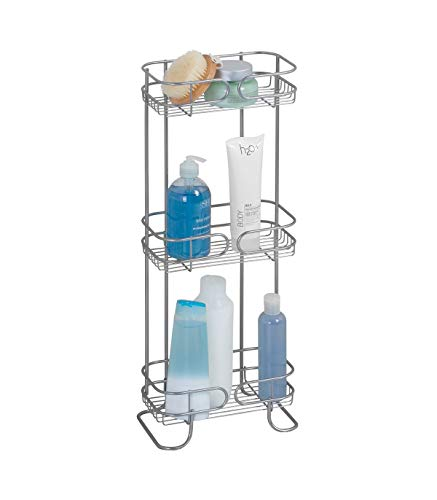 iDesign Neo Estantería, mueble de baño autónomo en metal, con tres...