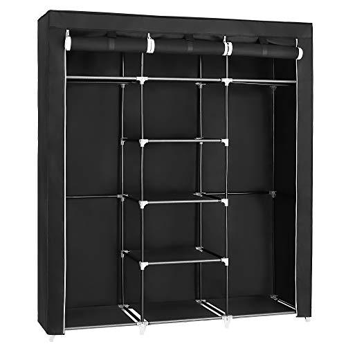 SONGMICS Armario Closet organizador Textil Plegable Color Negro 175 x...