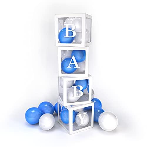 PILIN 4Pcs Bloques blancos Cuadrado Kit de cajas de Baby Shower...