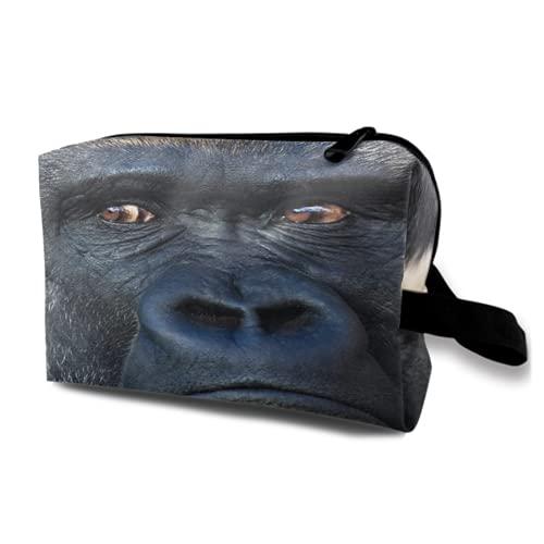 Neceser Colgante de Viaje,Retrato de Rostro de un Gorila de Espalda...