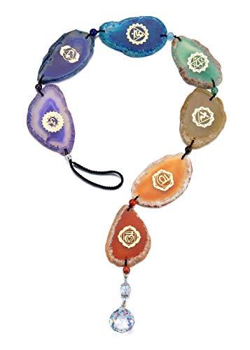 JSDDE 7 chakras colgadores decorativos colgantes de piedras preciosas...