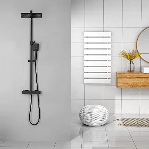 KAIBOR Set de Ducha Termostatica Negro, Sistema de ducha...