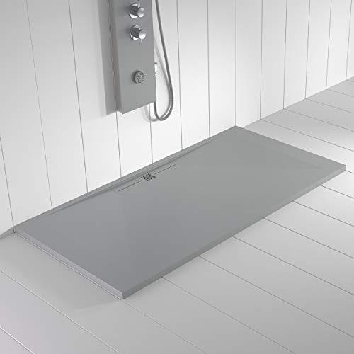 Shower Online Plato de ducha Resina WIDE - 80x210 - Textura Pizarra -...