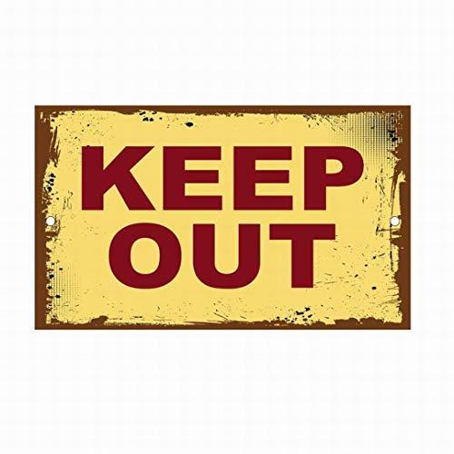 Señal de Advertencia de Metal con Texto en inglés Keep out para decoración del hogar, Placa de Pared de 20 x 30 cm