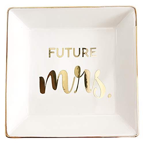 ModParty Future Mrs Dish pequeño anillo de cerámica para regalo de...