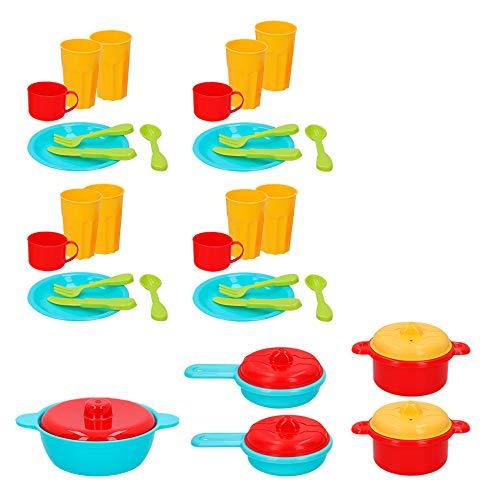 ColorBaby -  Cubo accesorios de menaje, 38 piezas My Home Colors (49023) , color/modelo surtido