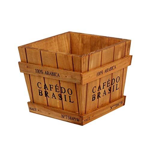 Vosarea Vintage Madera suculenta Caja Maceta jardinería Jardinera...