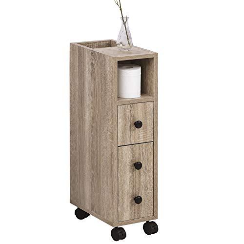 kleankin Armario de Baño Mueble para Baño Espacio Limitado con...