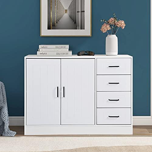 Tanant Aparador moderno para cocina, armario de sala de estar, mueble...