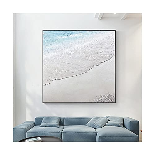 Wabi-Sabi Estilo Abstracto Paisaje De Playa Pintado A Mano Paleta De...