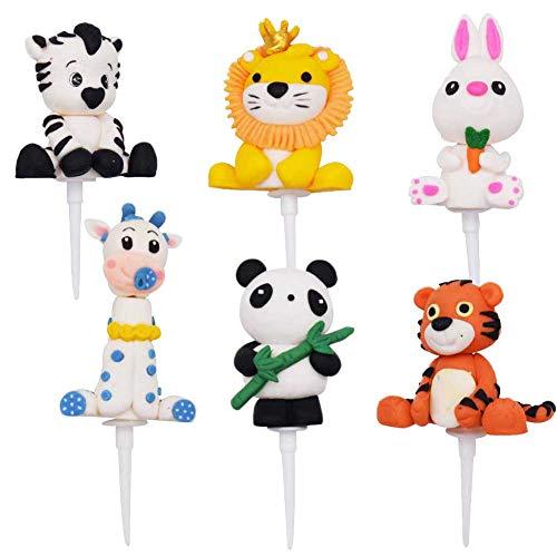 6PCS Animal Cupcake Toppers,OYSJ Decoraciones para Pasteles,...