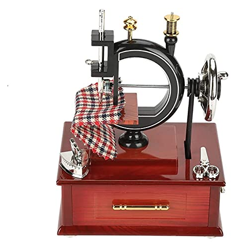 Jsmhh Máquina de Coser Vintage Caja de música Estilo Retro Caja de...