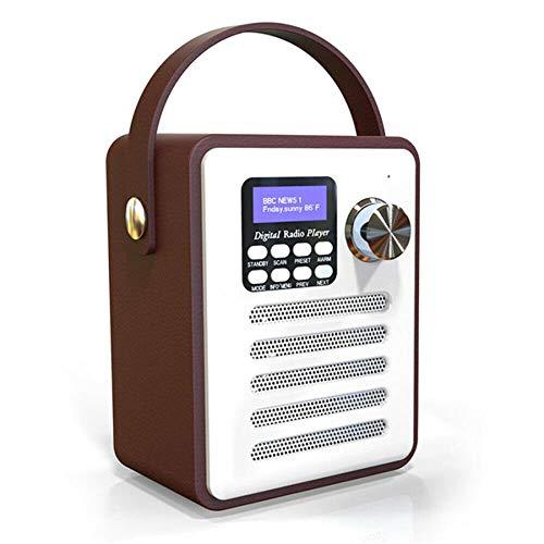Syan Radio Bluetooth Digital portátil de Madera, Radio estéreo...
