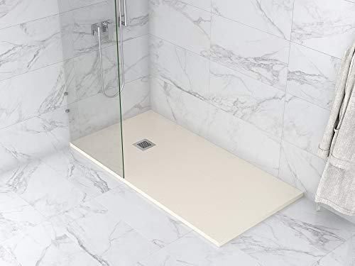 MASAL TECH DESING - Plato de ducha, textura PIZARRA BEIGE 70x140 cm,...