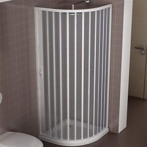 Cabina de ducha reducida de PVC 80 x 80 cm modelo Roxana semicircular...