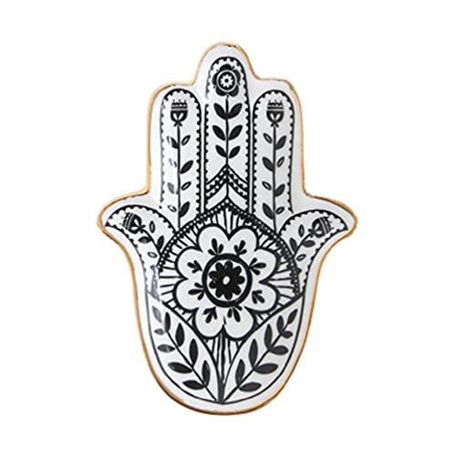 Plato de cerámica con diseño de girasoles, para joyas, joyas,...