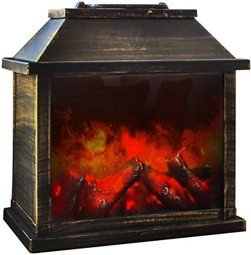 Eaxus® Chimenea eléctrica decorativa con efecto llama y aspecto...