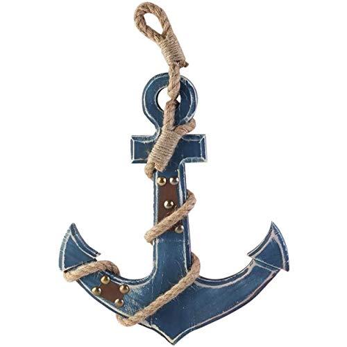 WINOMO Estilo mediterráneo Ancla náutica Azul Colgando de la Pared...