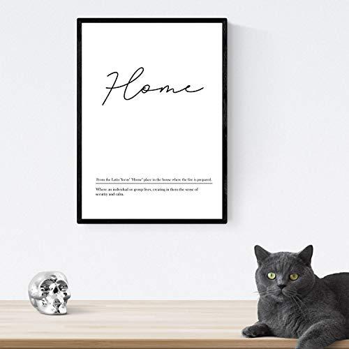 Nacnic Lámina con definicion en inglés de Home. Poster de palabras con definiciones. Tamaño A4 sin marco