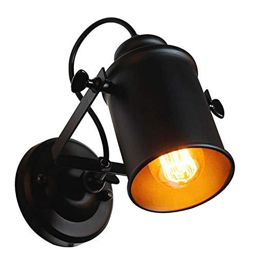 DAXGD Aplique de pared, lámpara industrial vintage para el hogar, luces colgantes decorativas en el brazo con brazo giratorio
