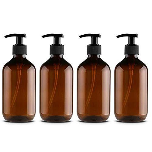 CAILI 4PCS Dispensador de jabón de plástico para baño, Cocina,...