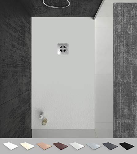 VAROBATH -Plato de ducha de Resina Arena , extraplano, antideslizantes...