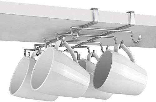 Metaltex Shelf Mug Holder, Polytherm Coated, Silver, SpiderMug