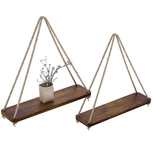 Comfify Set of 2 Floating Shelves with String