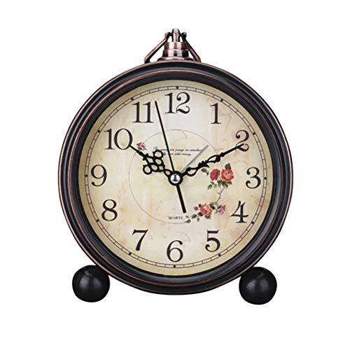 LIOOBO Reloj de Alarma de Estilo Vintage Reloj de Mesa Retro Antiguo y...