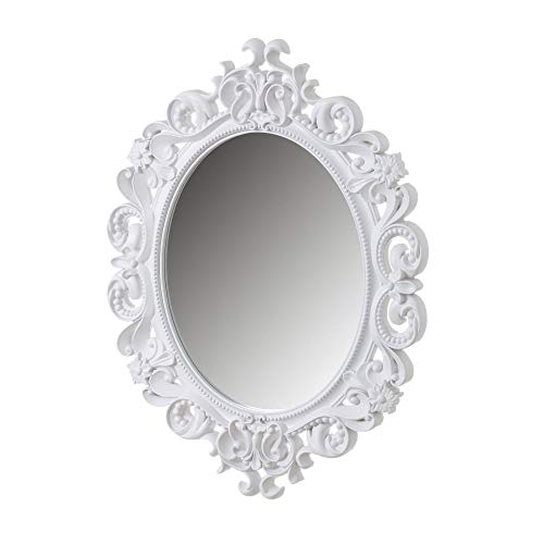 Espejo Cornucopia clásico Blanco de Polipropileno de 80x60 cm -...