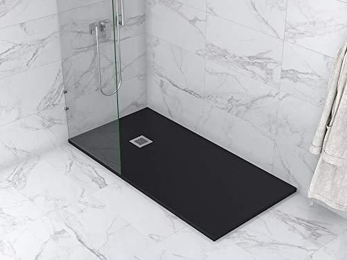 MASAL TECH DESING - Plato de ducha, textura PIZARRA NEGRO 80x180 cm,...
