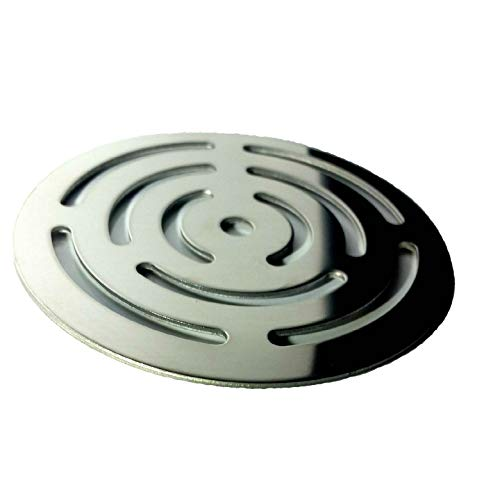 Rejilla redonda de 11,5 cm en acero inoxidable para platos de ducha de...