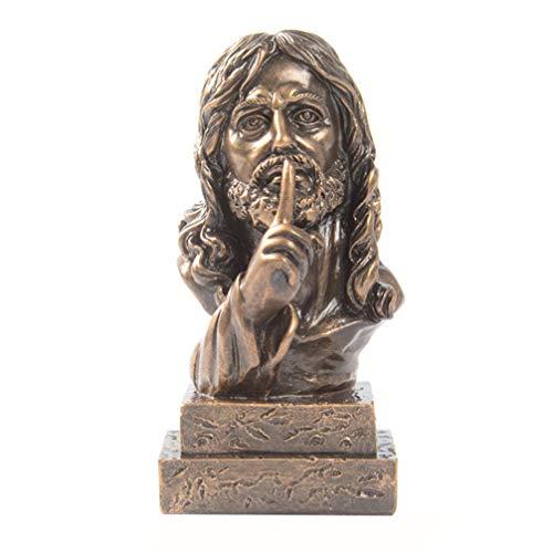 VORCOOL Estatua de Jesucristo de resina con hijo de Dios, figura de religión cristiana, modelo de Jesús, adorno para el hogar, oficina, artesanía, Feng Shui, decoración
