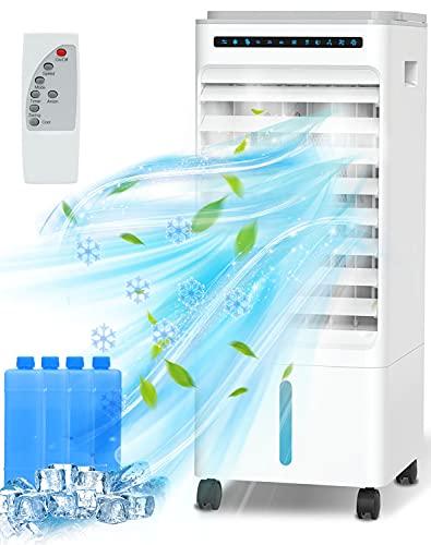 Aire Acondicionado, 4 en 1 Móvil Climatizador Evaporativo Ventilador...