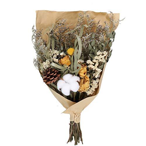 DWANCE Flores Secas Rosas Flores Secas Hoja Eucalipto Naturales...