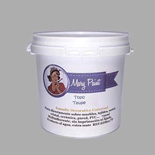 Mary Paint | Pintura para muebles efecto Chalk Paint, Gris Topo -...