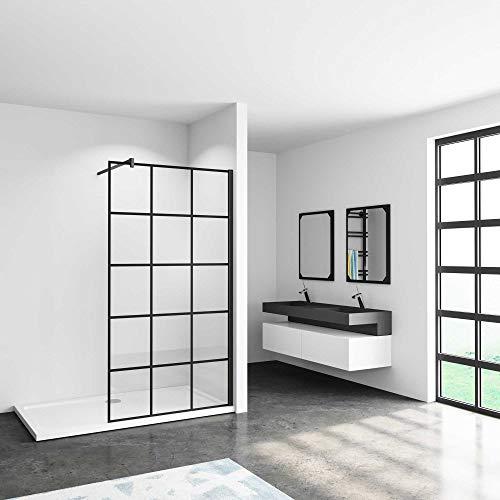 120x200cm Mamparas de ducha pantalla panel fijo estilo industrial...