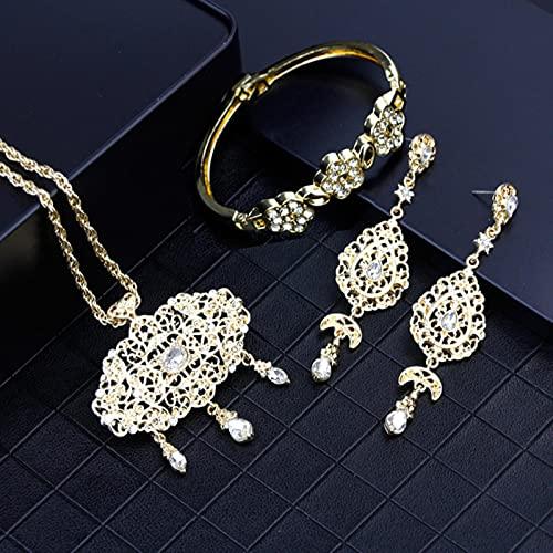 DOOLY Color de Oro Collar árabe Pendiente Pulsera Pulsera Mujeres...