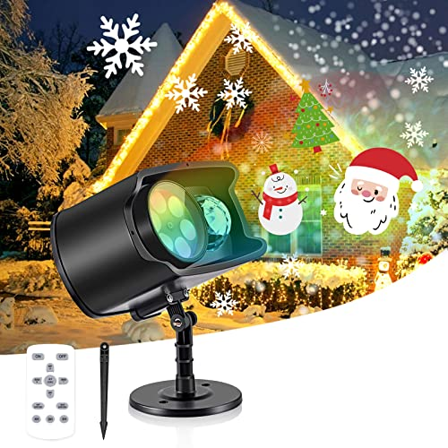 Luces Proyector de Halloween y Navidad, AGPTEK Decoración Luz de...