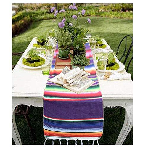 Awtlife - Camino de mesa mexicano (35 x 213 cm, yute natural para...