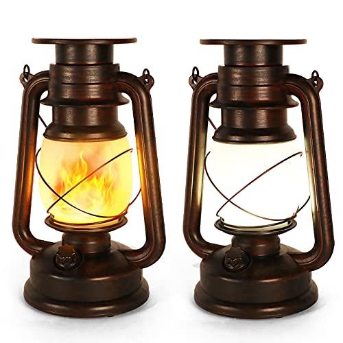 Linterna Solar Vintage Exteriores, 2 Piezas Farolillos Solares...