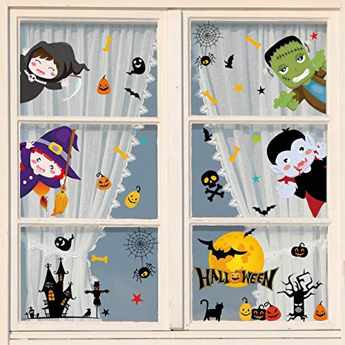 heekpek Pegatinas de Ventana de Halloween Pegatinas para Puertas...