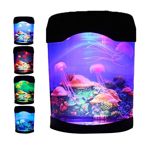 Lámpara de medusas con 7 colores cambiantes, portátil, lámpara de...